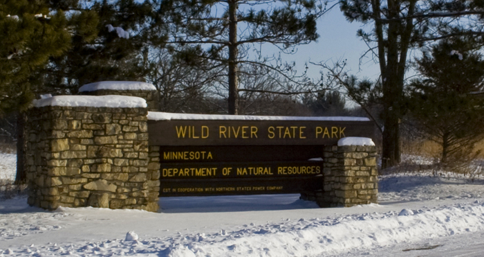 Entering Wild River State Park, MN